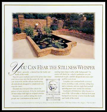 Courtyards of Distinction Ad
